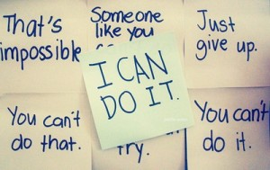 I can do it words