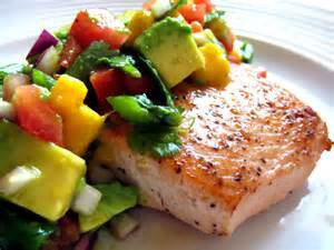 salmon and avo